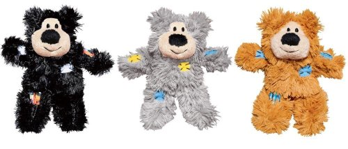KONG Softies Patchwork Bear Assorted