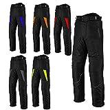 Profirst Global Pantalón de moto para hombre-motocicleta Impermeable Cordura Pantalones textiles Pantalones Armaduras para hombres - Rojo - M