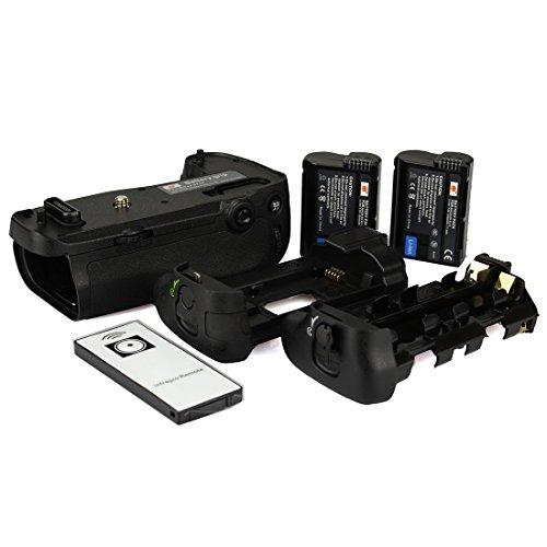 DSTE Telecomando Verticale Batteria Presa per Nikon D750 DSLR Fotocamera come MB-D16 con 2-pack EN-EL15