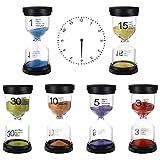 Paquete de 6 Relojes de Arena con Varios Tiempos