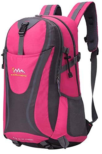 Trekking Wander Backpacker Rucksack Laptop Damen Herren Rucksäcke 35L 30428 Pink