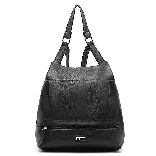 Misako - Backpack Bag SULI Women's Anti-Theft in in Plain Colors | Backpack Bag in Synthetic Leather
