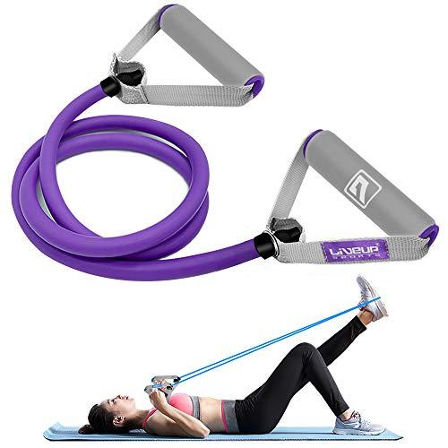 LIVEUP SPORTS Resistance Fitnessbänder Training für Sport Treiben, Elastisches Expander Tube und Gummiband für Männer und Frauen zur Muskelaufbau, Yoga, Pilates Fitness