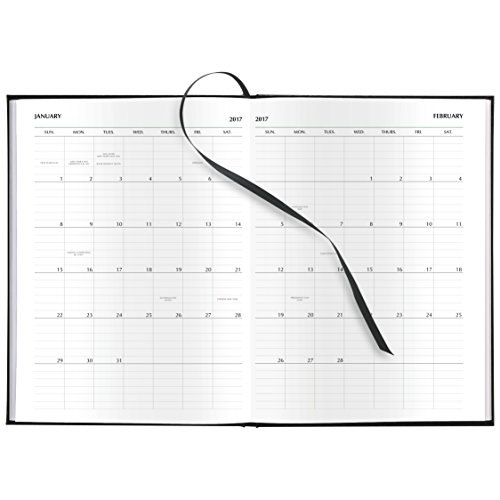 """Day-Timer Weekly Appointment Book / Planner 2017, Executive, 7-1/2 x 10"""", Black (13801) Photo #5"""