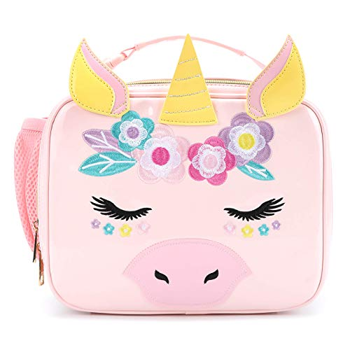 Mibasies Kids Insulated Lunch Box for Girls Unicorn Bag