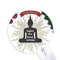 マインドランプ誘導 クリスマスツリーの滑り止めゴム形のマウスパッド