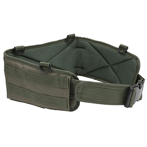 DSJSP Adjustable Tactic Waist Bag Outdoor Hiking Camping Waterproof Hunting Waist Pack (Army Green)