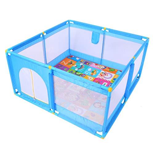 YF-Watch Boxes - Valla de Seguridad para niños, Cuadrada, portátil, para niños, anticaída, para Jugar al Patio de 50,39 x 50,39 x 25,98 Pulgadas