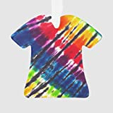 None-brands Merry Christmas Ornaments Multicolor Tie-Dye T-Shirt Ornament Funny Xmas Gifts, Holiday Tree Decoration Stocking Stuffer Gift