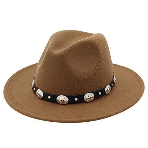 Yue668 Unisexe Adulte Chapeau De Cowboy Western En Plein Air, Chapeau Haut De Forme Rétro Mongol, Chapeau Prairie Pare-soleil Chapeau Rétro Chapeau