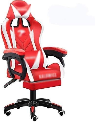 Elegante silla oficina, silla giratoria Silla de trabajo del escritorio de la computadora | Silla de juego de la PU resistente al desgaste | Silla de oficina con la cabeza y el soporte lumbar 155 ° re