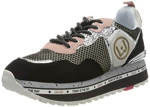Liu Jo Shoes Damen Maxi Alexa-Running Sneaker, Schwarz (Black 22222), 38 EU