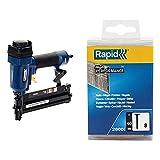 Rapid 5000103 PRO PBS151 Graffatrice/Chiodatrice Pneumatica, Blu & 5000185 No. 8 Chiodi 40...