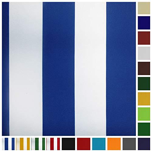 Neumann Handelsvertrieb Markisenstoff Plane Zeltstoff Sonnensegel Persenningstoff Wasserabweisend (Blau-Weiss)