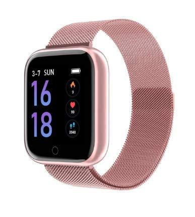 Relógio Smartwatch P70 Sport 2 pulseiras Preto Android IOS