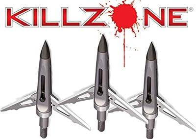 "NAP Killzone Mechancial Broadhead 100 Grain Two Blade 2"" Cutting Diameter Trophy Tip 3 Pack"