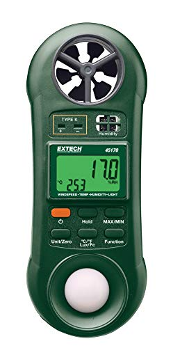 Extech 45170 Hygro-Thermo-Anemometer-Light Meter -