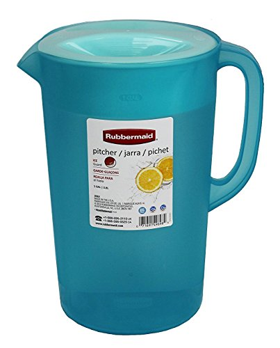 Rubbermaid Limited Edition Dishwasher Safe Pitcher, 1 Gallon, Blue