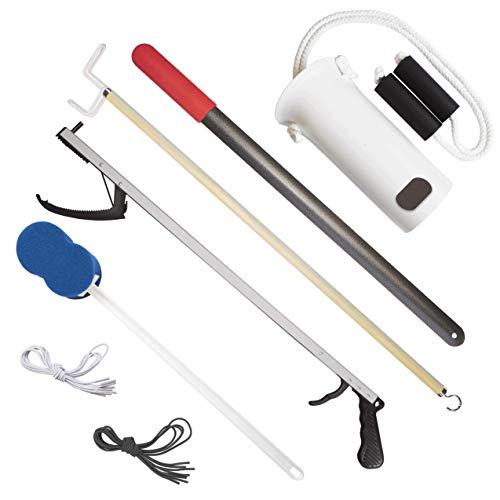 Rehabilitation Advantage Premium Hip/Knee Replacement Kit - 7 Pieces, Includes 26'' Reacher