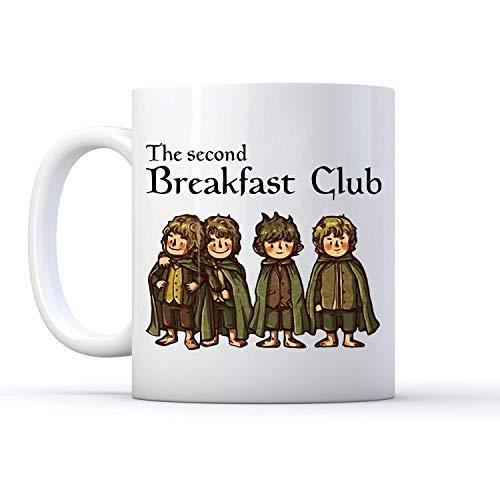 The Second Breakfast Club Mug White Coffee Mug 11oz Ceramic
