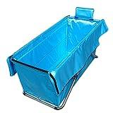 Peaceip Faltbare Badewannen-Erwachsene Haushalts-Verdickung übergroße tragbare faltende Badewannen-Isolierung langlebiges Gut einfach, 105 * 56cm zu säubern (Farbe : Blau)