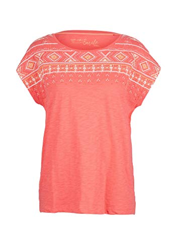 s.Oliver Damen 120.10.005.12.130.2038494 T-Shirt, Coral Embroidery, 42