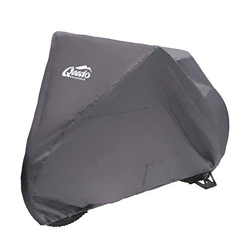 Qeedo Bike Faltgarage mit Packsack (wasserdicht, UV-Schutz) Fahrradgarage Abdeckung, Schutzhaube für Fahrrad, Robustes Ripstop Material