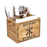 Yorking Besteckkasten Holz Holz Besteckkorb,Besteckkasten FüR Besteck Gabel Messer Shabby Antik
