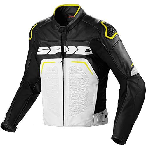 Spidi Evorider Wind Motorrad Lederjacke 50 Schwarz/Gelb