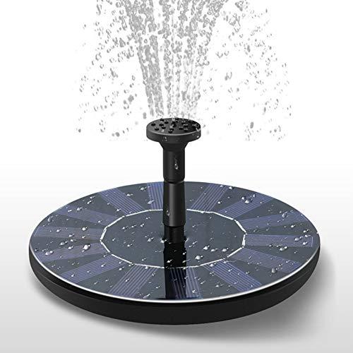 Solar Powered Brunnen Pumpe Solar Wasserpumpe Schwimm Brunnen mit 4 Spray Düse, vogel Bad Schwimm Wasser Brunnen Pumpe für Pool, Garten, Aquarium