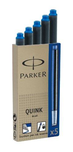 Parker Tintenpatrone Quink Packung mit 5 Stück, blau