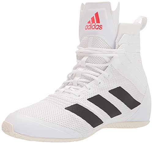 adidas Unisex Speedex 18 Football Shoe, White/Black/Solar Red, 9 US Men