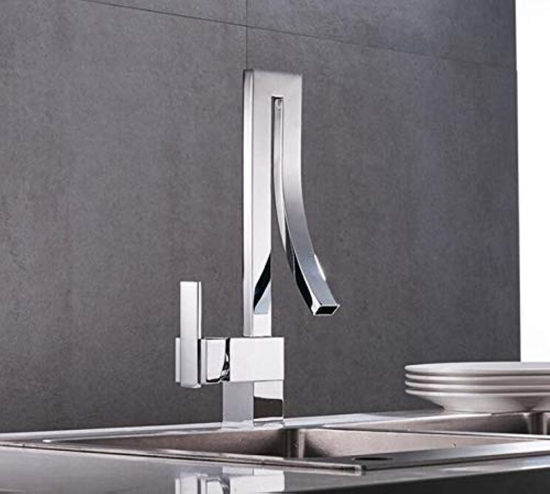 Oudan Design Single Handle Waterfall Chrome Basin Faucet Tap Hot Cold Bathroom Faucet Mixer Xt-20 (color   -, Size   -)