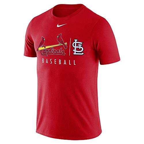 Nike Men's St. Louis Cardinals Red MLB Practice T-Shirt (X-Large)