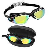 Bezzee Pro Schwimmbrille - UV-Schutz & Antibeschlag Taucherbrille mit Etui - Kein Auslaufen &...