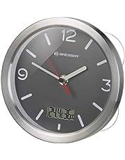 Bresser My Time Termo/Higro Reloj de baño, Aluminio, Gris, 0 cm