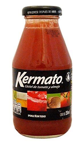 KERMATO Cóctel de Tomate y Almeja -- Tomatensaft aus México, Flasche 250ml.