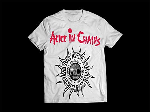 Camiseta/Camisa Masculina Alice In Chains Grunge Tamanho:XG;Cor:Branco