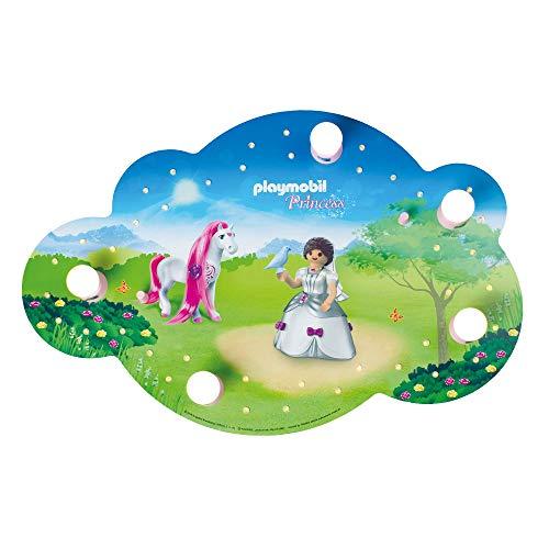 Elobra Playmobil Princess Plafoniera a LED, Colore: Rosa, 75 x 50 x 8 cm