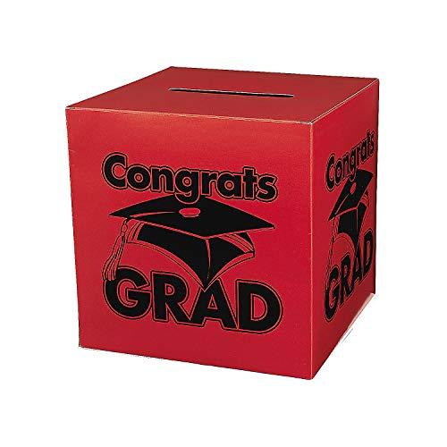 Congrats Grad Red Card Box for Graduation - Party Supplies