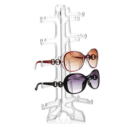 MyBeautyworld24 Brillenständer aus Acryl für 5 Brillen Sonnenbrillenständer für mehrere Brillen Sonnenbrillen Brillenständer Brillendisplay Brillenhalter Sonnenbrillenablage Brillenregal Sunglasses