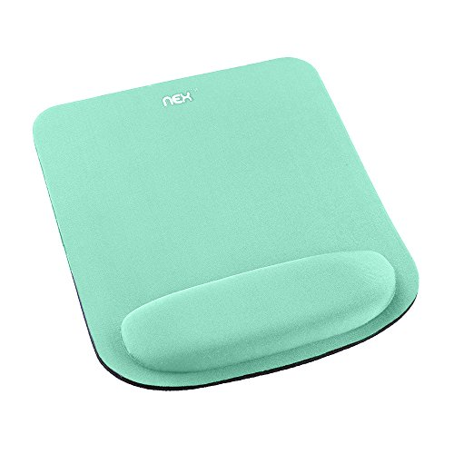 NEX Non Slip Mouse Pad with Ergonomic Wrist Rest Memory Foam Mouse Mat for Computer, Laptop & Mac - Easy Typing & Pain Relief (Mint Green)