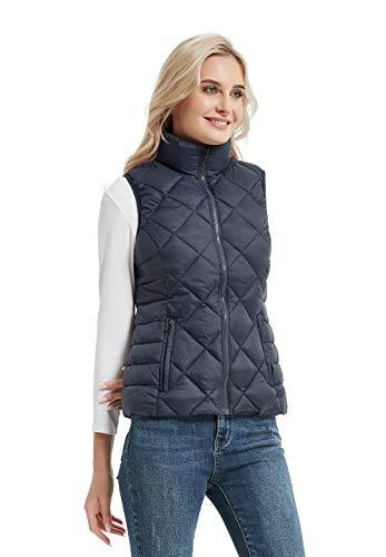 CROYEE Women's Lightweight Padded Puffer Vest Winter Warm Stand Collar Sleeveless Coat