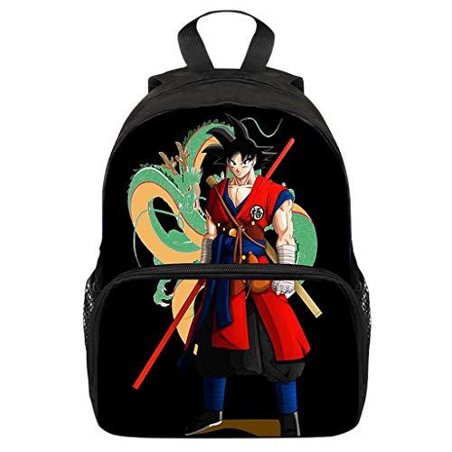 Mochila Dragon Ball Goku, Mochila Dragon Ball, Mochila Dragon Ball Escolar Pequeña Adolescente Chicos Niños Primaria Mochilas y Bolsas Impresión Juvenil Bolsa Infantil (21)