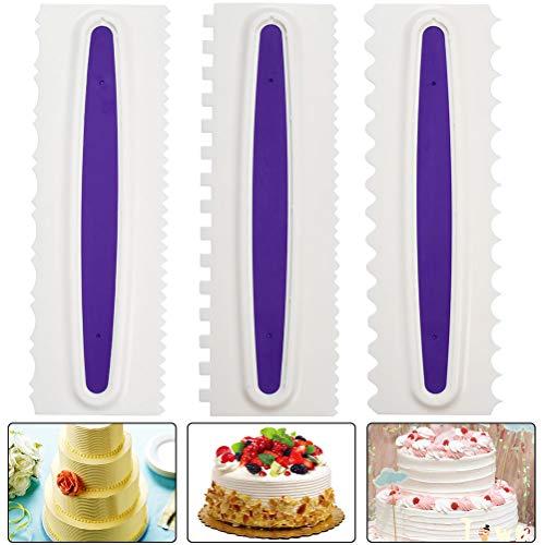 3pcs Raspador para Tartas de Pasteles para Decoración de Bordes, Herramienta de Bricolaje, Espátulas de Crema y Azúcar