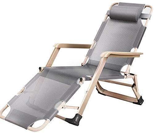 FTFTO Bureau Life Outdoor Deck Chair Patio Beach Lawn Camping Chaise Portable Chaise de Jardin Chaise de Jardin Personnes Lourdes avec Coussins Support 200 Kg Zero Gravity Chairs