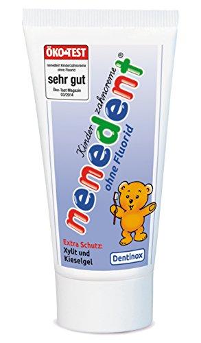 Nenedent Kinderzahncreme ohne Fluorid, 4er Pack(4 x 50 ml)