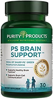 Sponsored Ad - PS Brain Support from Purity Products - 100 mg Sharp-PS Green PhosphatidylSerine in Each Softgel - Non GMO,...