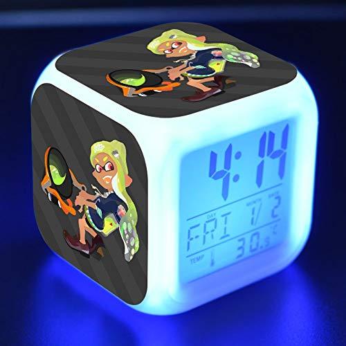 shiyueNB Reloj Despertador de Dibujos Animados Juguete para niños Led Reloj Despertador Reloj Despertador Digital Mesa de luz de Despertador electrónico Reveil wekker 16