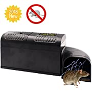Fomei [2018 UPGRADED] Electronic Rat Trap,Rodent Mouse Traps Electronic,High Voltage Emitting, Effective and Powerful killer Traps for rat,Mice Squirrels and other similar rodents.